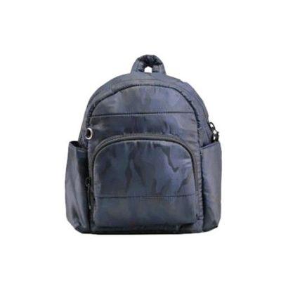HARU 日本布料-小童背包-KIDS BAG-藍迷彩 (背面為同色布料)
