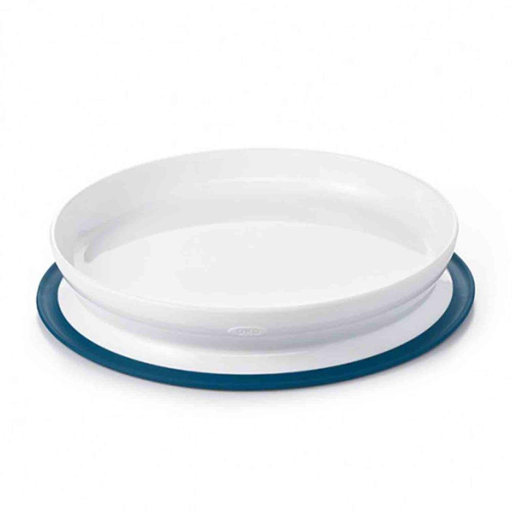 美國 OXO - 好吸力學習餐盤-海軍藍