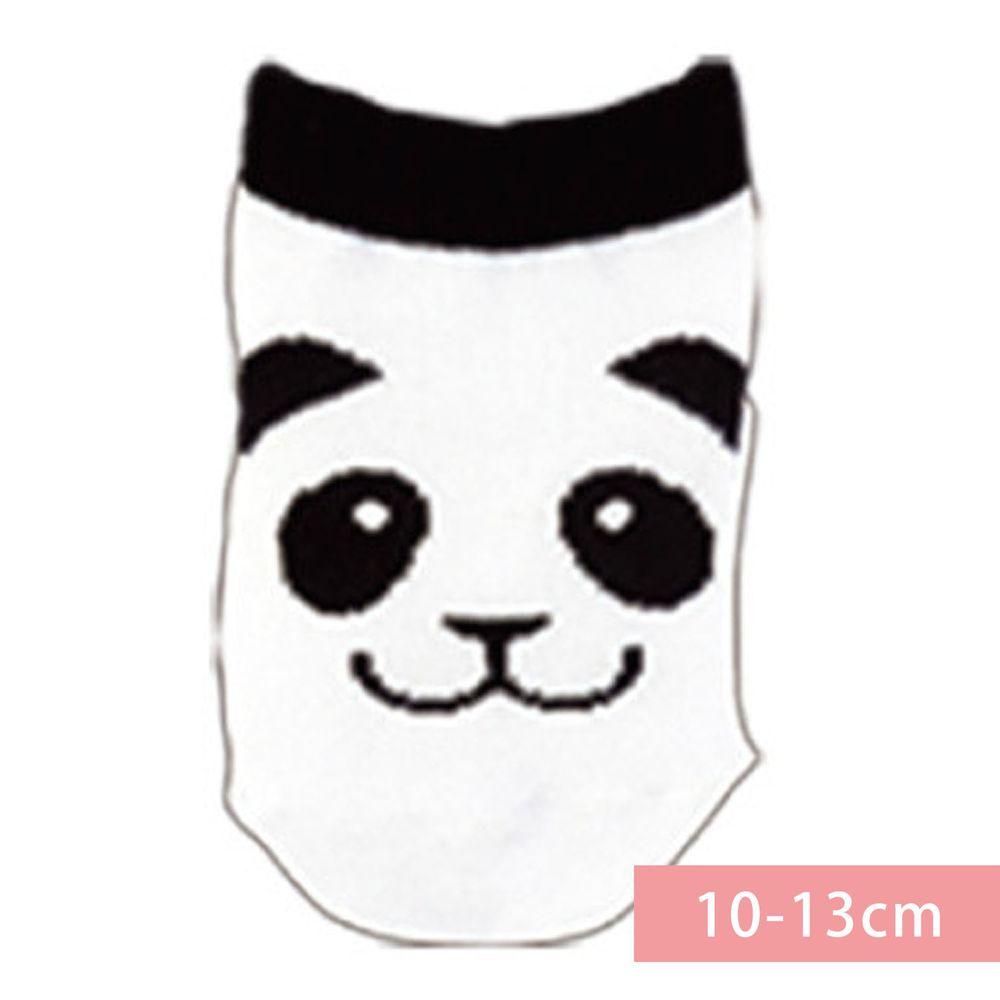 日本 OKUTANI - 童趣日文插畫短襪-熊貓-黑白 (10-13cm(1-3y))