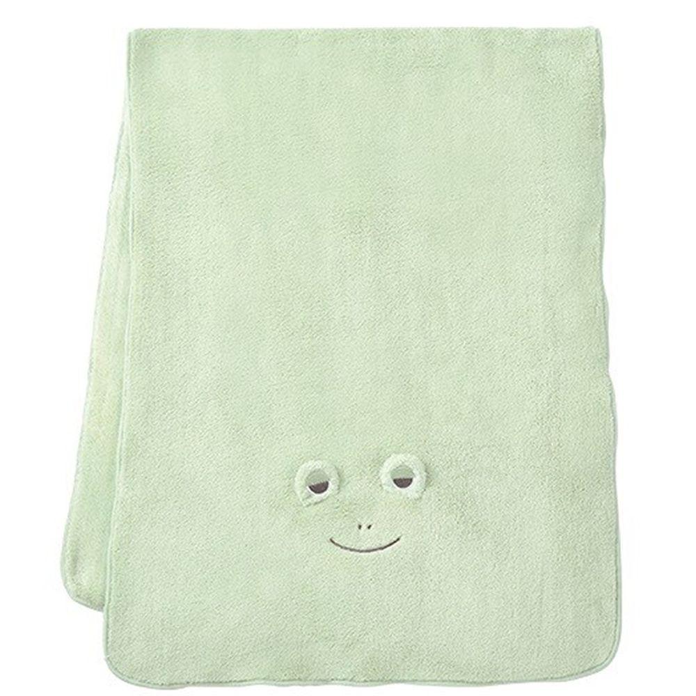 日本 LIV HEART - 5倍吸水力蓬鬆柔軟 長毛巾-青蛙-綠 (40x100cm)