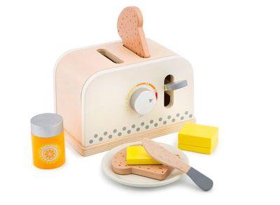 木製家家酒麵包機-優雅白
