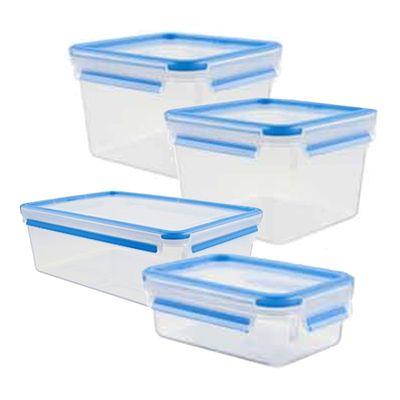 MasterSeal 無縫膠圈PP保鮮盒 超值4件組 (1.75Lx2+2.3L+ 0.55L)