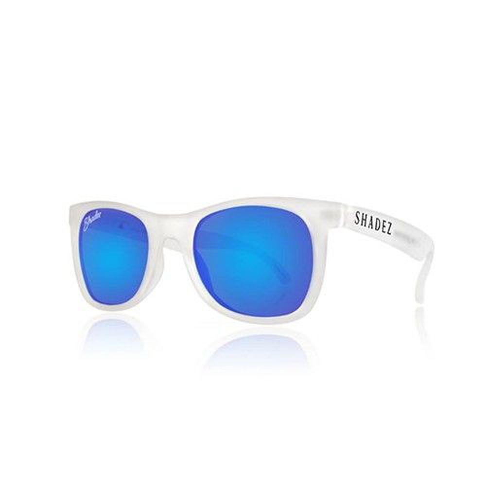 SHADEZ - 成人偏光太陽眼鏡-白框湛藍