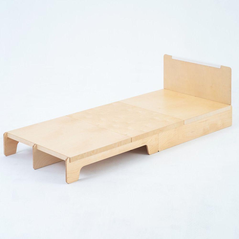 走走家具 - 模組單人床架-清新白 (97 / 217 / 66 (cm);座高 24 (cm))