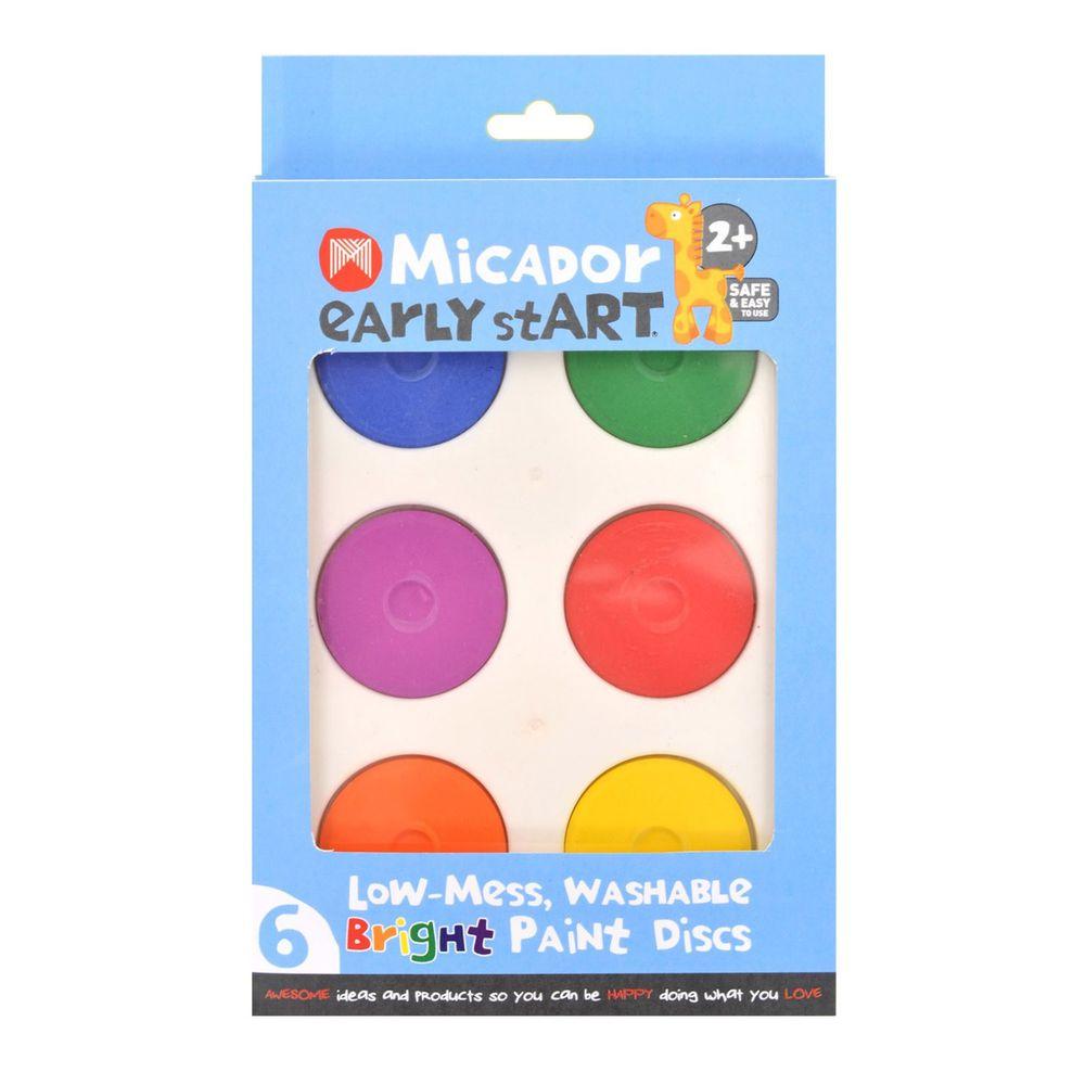 澳洲 Micador - 水洗6色畫餅-亮彩