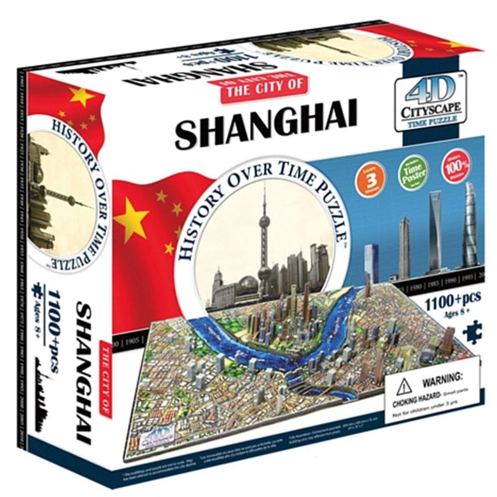 4D Cityscape - 4D-城市拼圖-上海-1100片