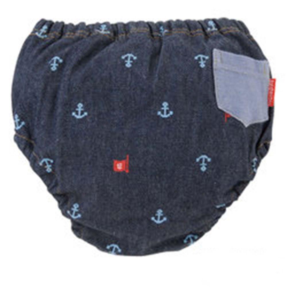 日本 Chuckle Baby - 四層學習褲-海軍-丹寧-分離式