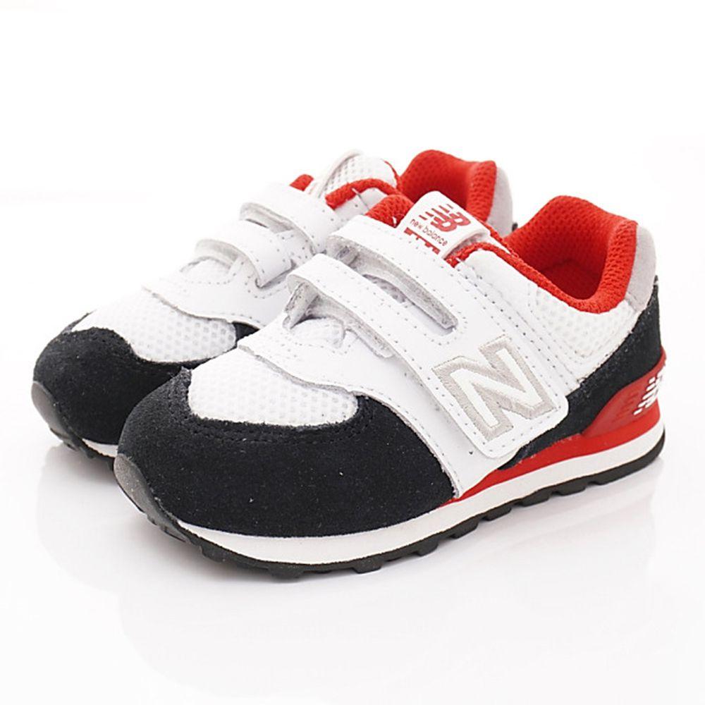 New Balance - New Balance慢跑鞋-574機能慢跑款(小童段)-白黑紅
