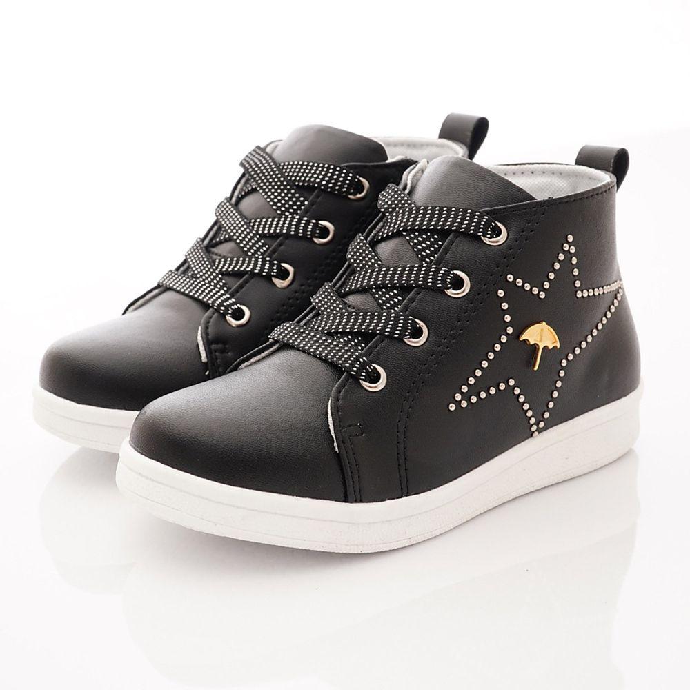 Arnold Palmer 雨傘牌 - 專櫃童鞋-燦星皮質短靴專櫃款(中大童段)-黑-台碼=尺寸cm