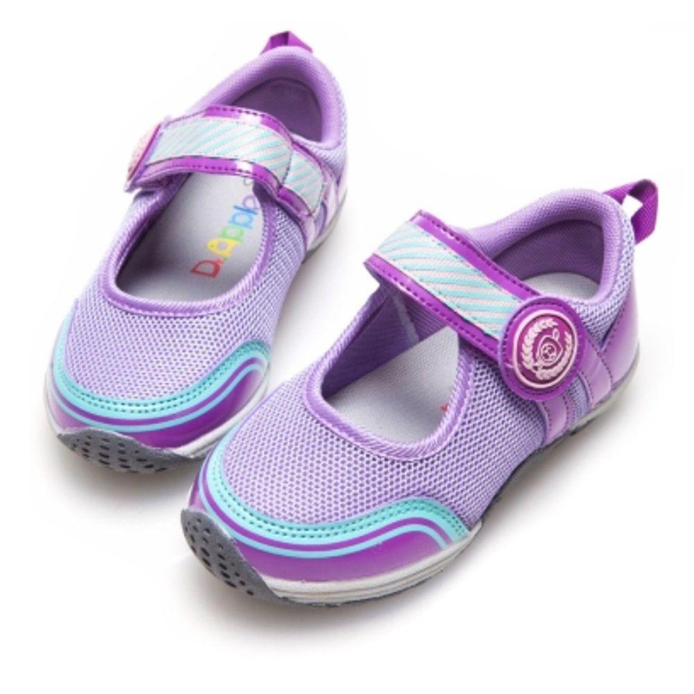 Dr. Apple - 機能童鞋-運動風元素女孩-紫