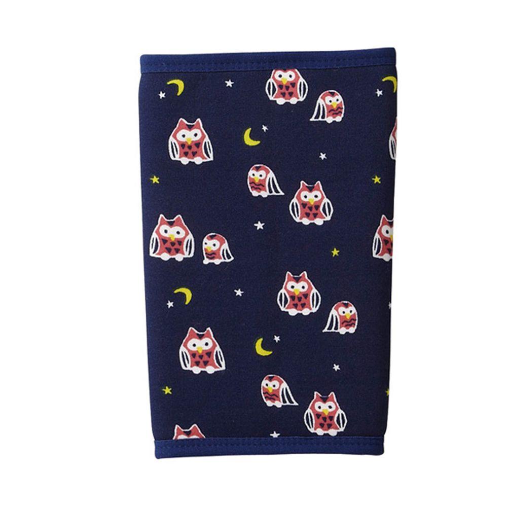 日本丸和 - 雙層機能裏起毛保暖襪套-貓頭鷹-深藍 (13x20cm)