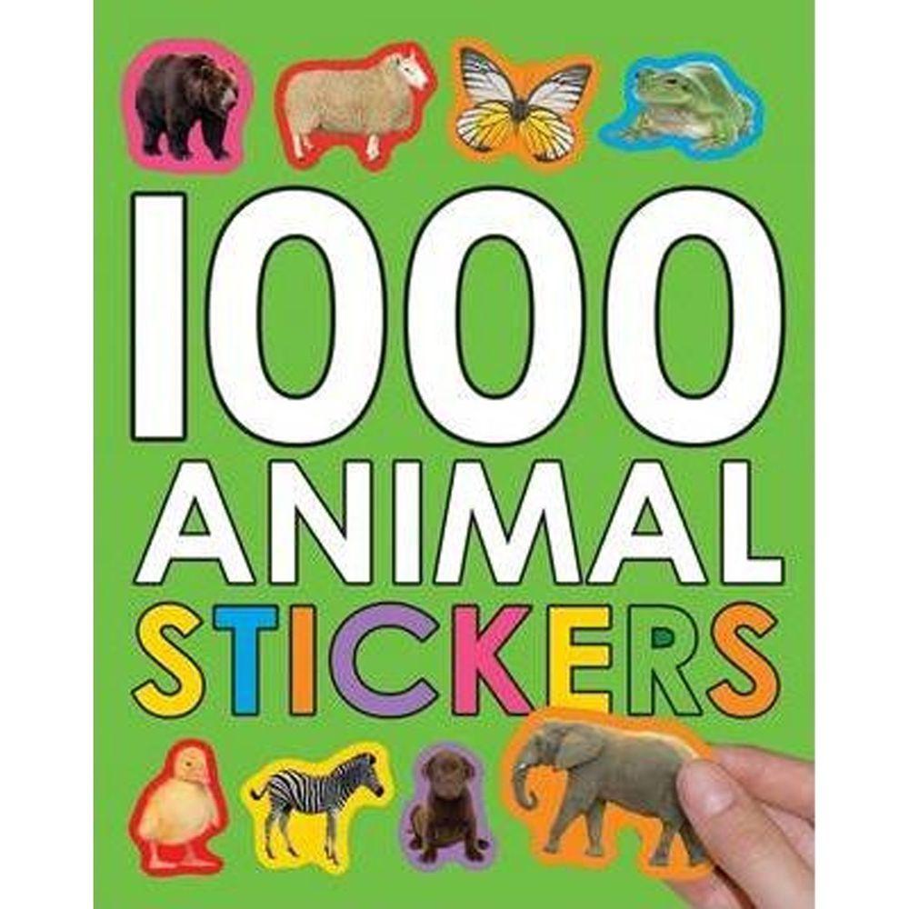 原裝進口貼紙書 1000 ANIMAL STICKERS-平裝