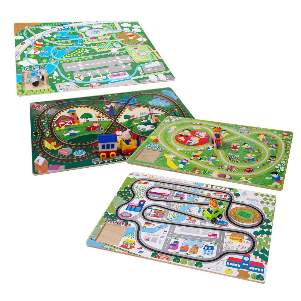 酷樂開發 - Track Board發條軌道車4款套