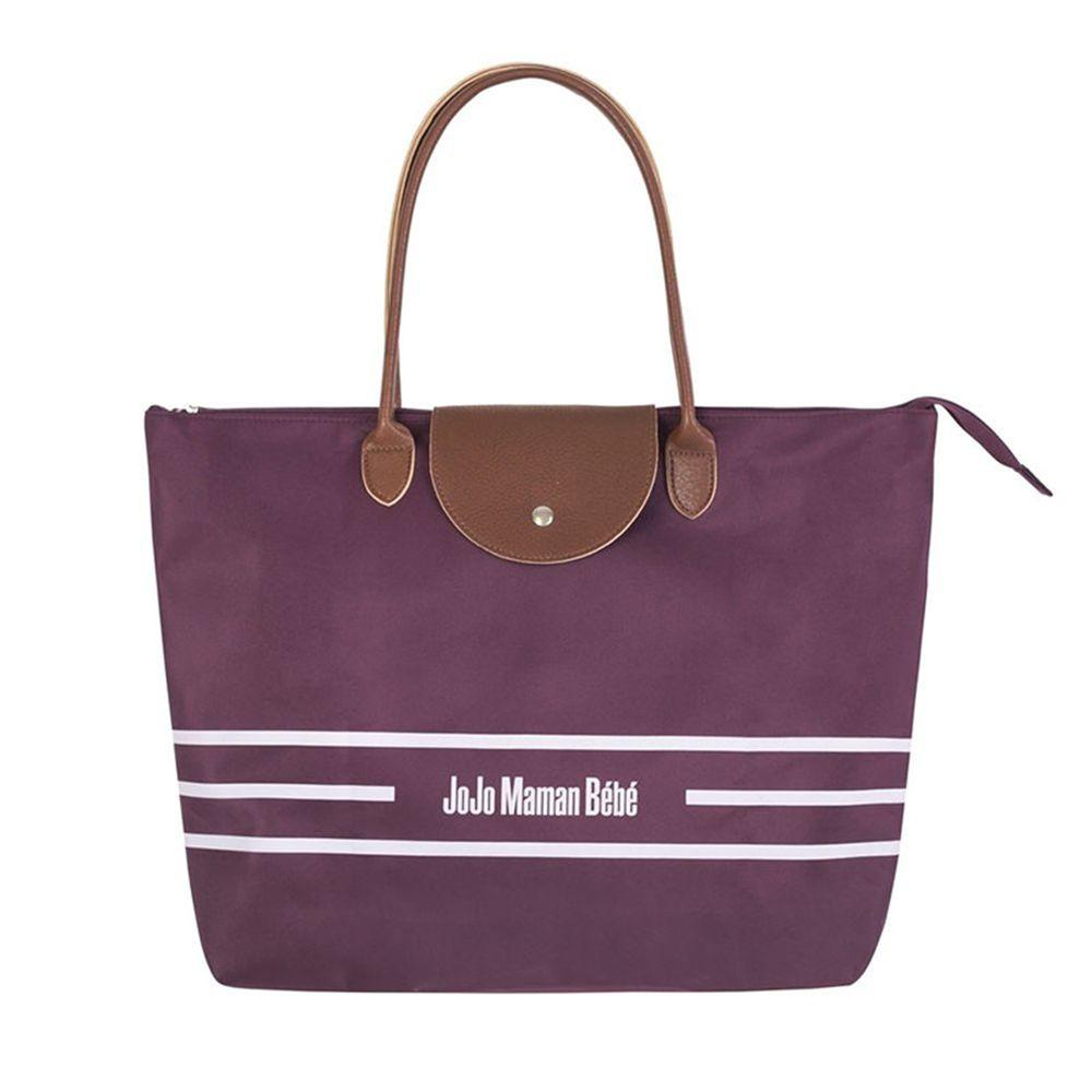 英國 JoJo Maman BeBe - 嬰兒推車手提包/媽媽包/肩背包-紫紅色