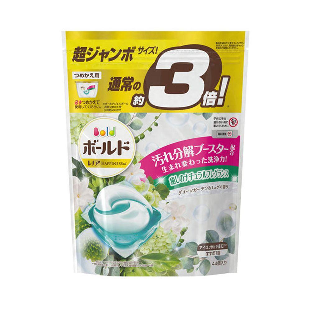 日本 P&G - 2020新版 洗衣膠球-補充包-鈴蘭葉香-44顆入/袋(844g)