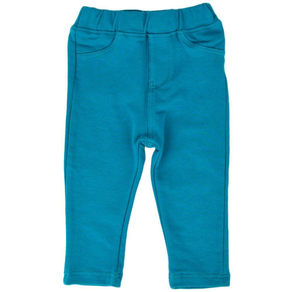 akachan honpo - 10分彈性緊身褲-素面-綠色