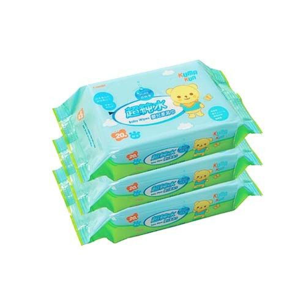 日本 Combi - Kuma Kun 超純水嬰兒柔濕巾-20抽3入