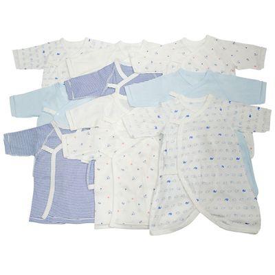 新生兒內衣10件組長袖 釦子款