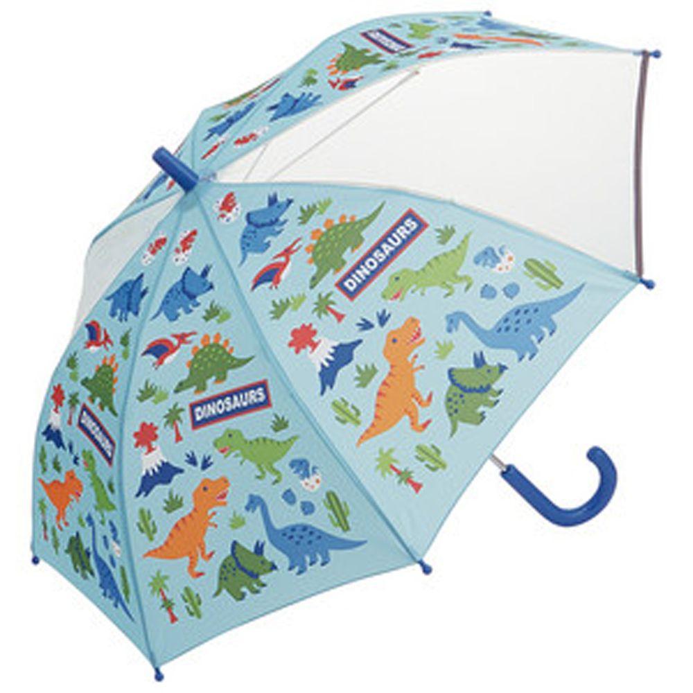 日本 SKATER 代購 - 兒童雙片透明直傘(附安全反光貼條)-侏羅紀世界 (50cm(身高:115-125cm))
