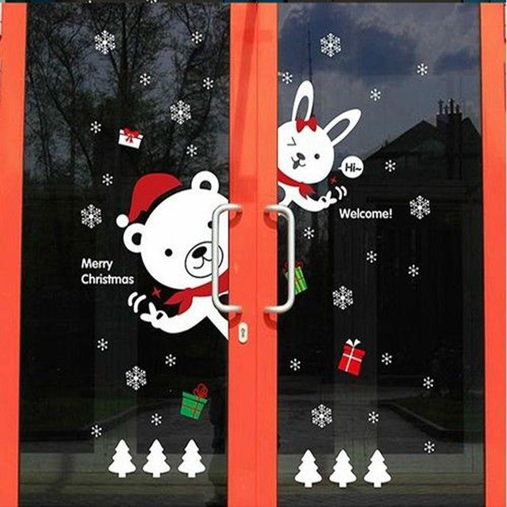 JB Design - 時尚壁貼-歡樂聖誕熊 (60cm*90cm)