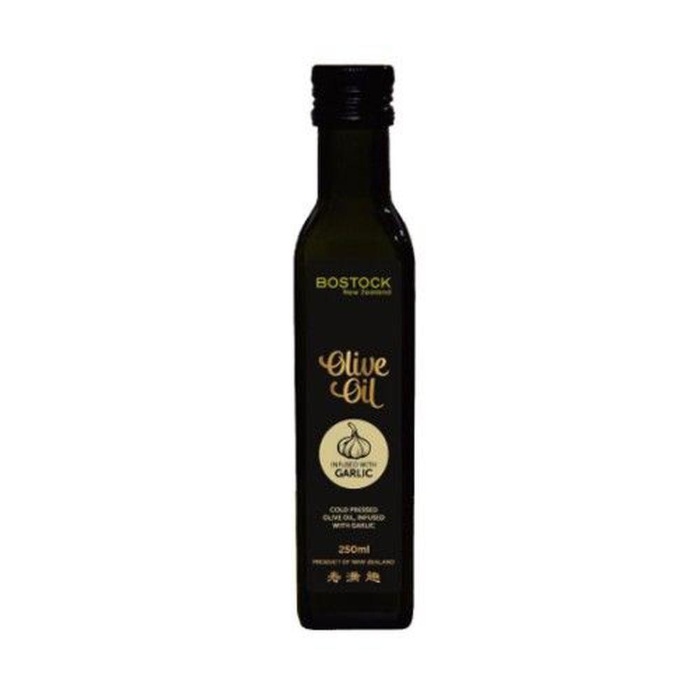 壽滿趣-紐西蘭BOSTOCK - 頂級冷壓初榨蒜香風味橄欖油-250ml