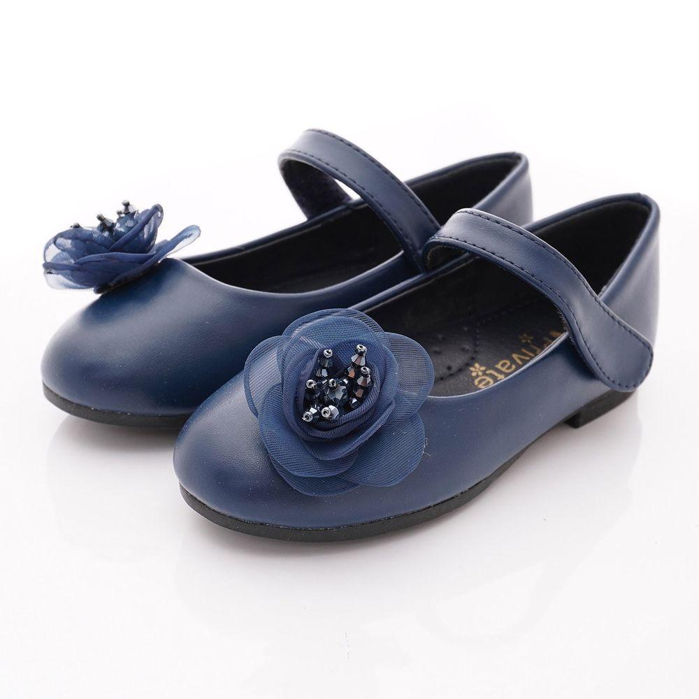 PV日式私藏 - 專櫃童鞋-蕾絲花漾公主鞋款(中小童段)-藍