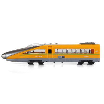 小小鐵道迷-磨輪聲光高速火車-黃色