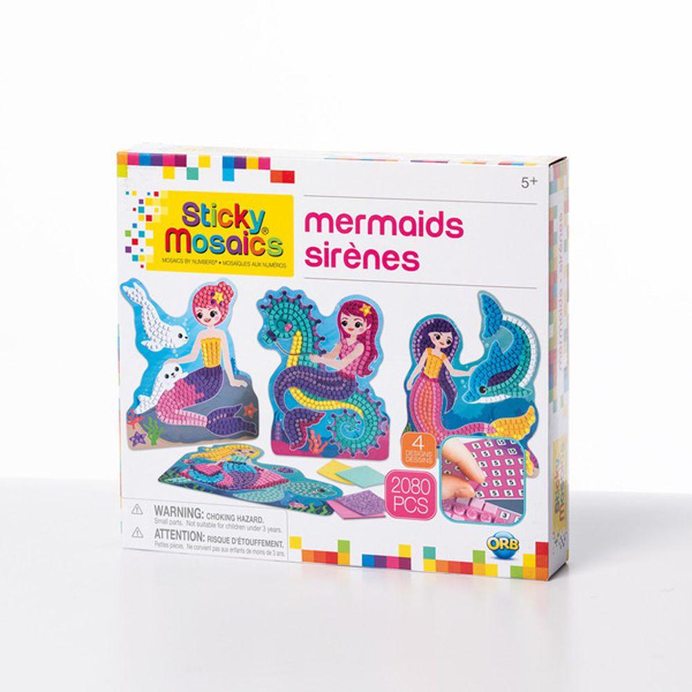 加拿大 Sticky Mosaics - 馬賽克拼貼-美人魚-2080 pcs