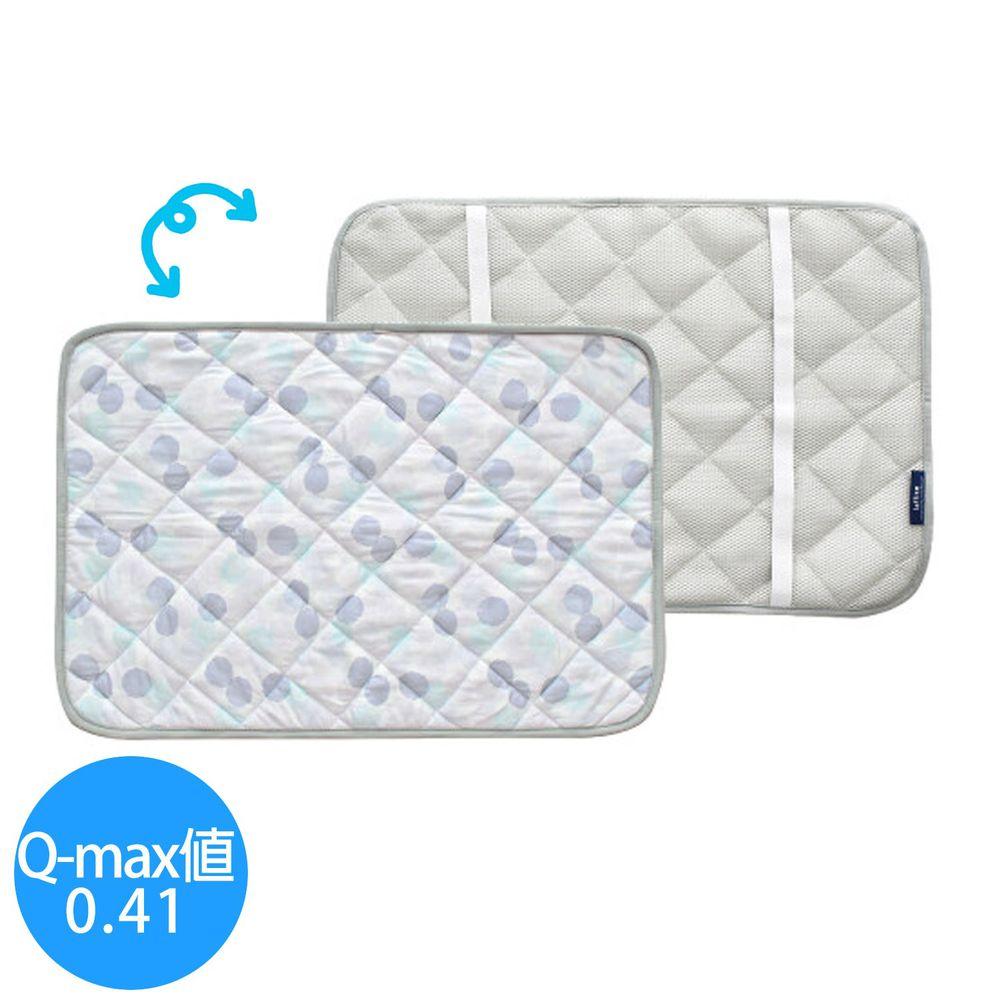 日本現代百貨 - 接觸涼感透氣airmesh枕套-水彩波點-灰 (63x43cm)