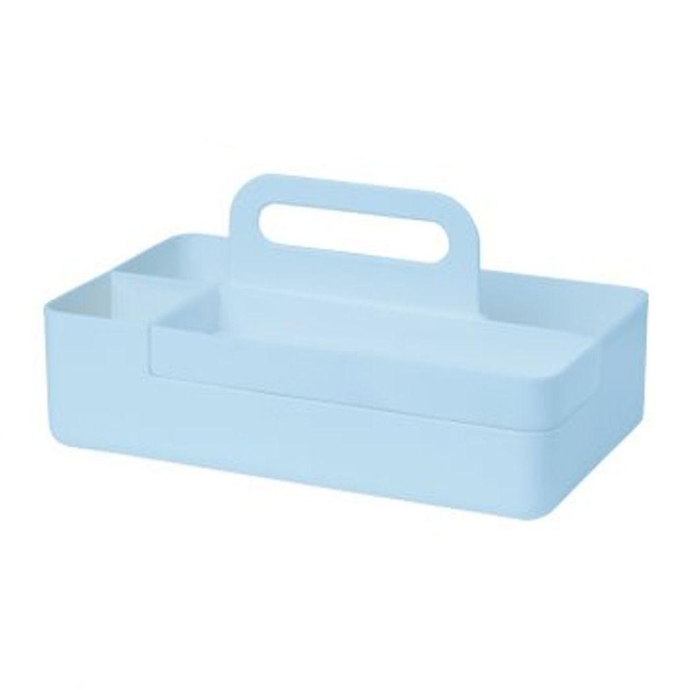 日本文具 SONIC - 手提式桌上文具分隔收納盒(磁吸設計)-水藍 (26x12.8x16cm)