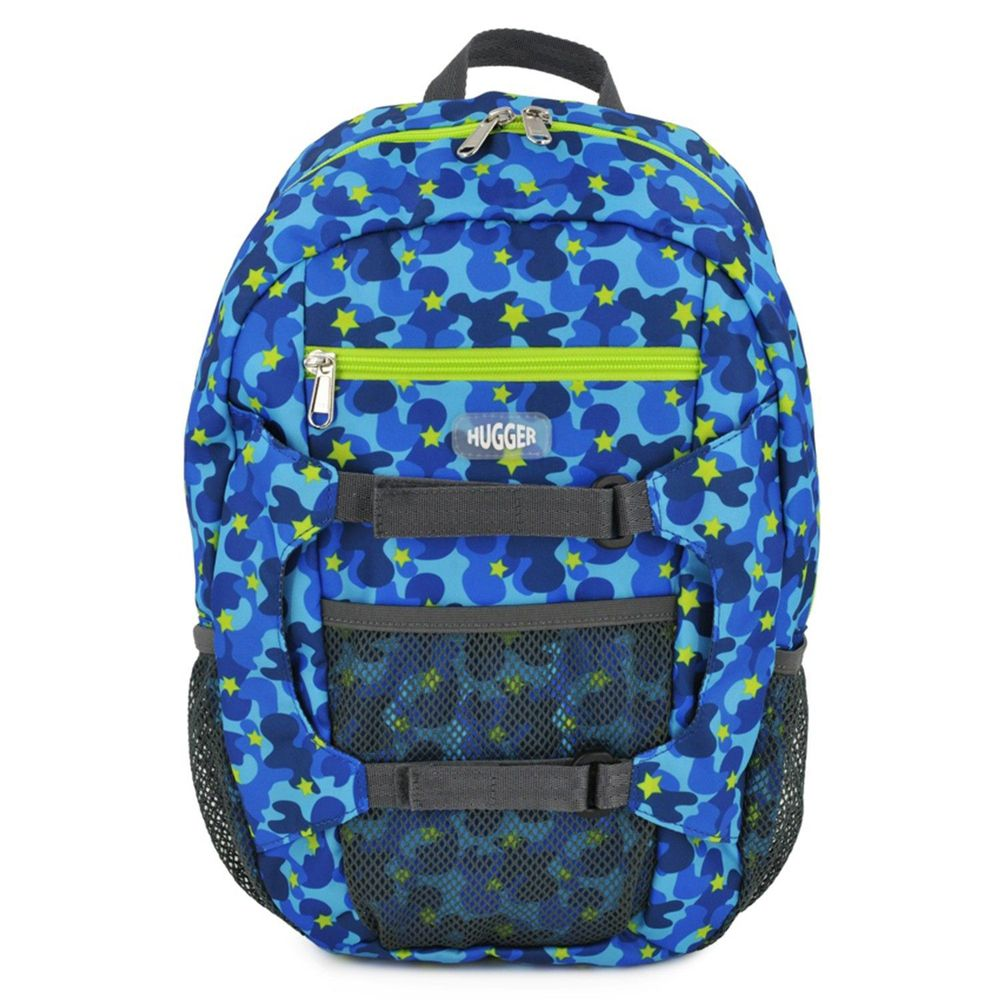 HUGGER - 孩童登山背包-迷彩藍
