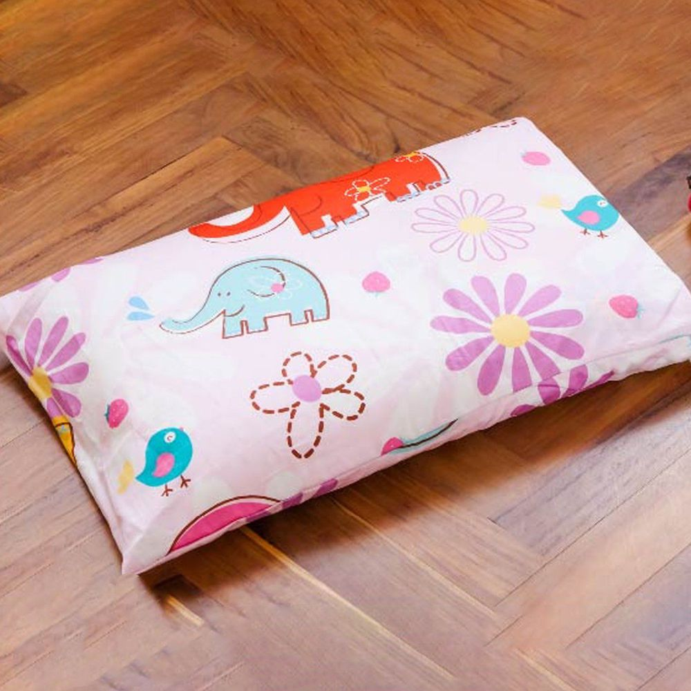 鴻宇HONGYEW - 美國棉兒童防螨抗菌枕套-心心象印-1851-55x44cm