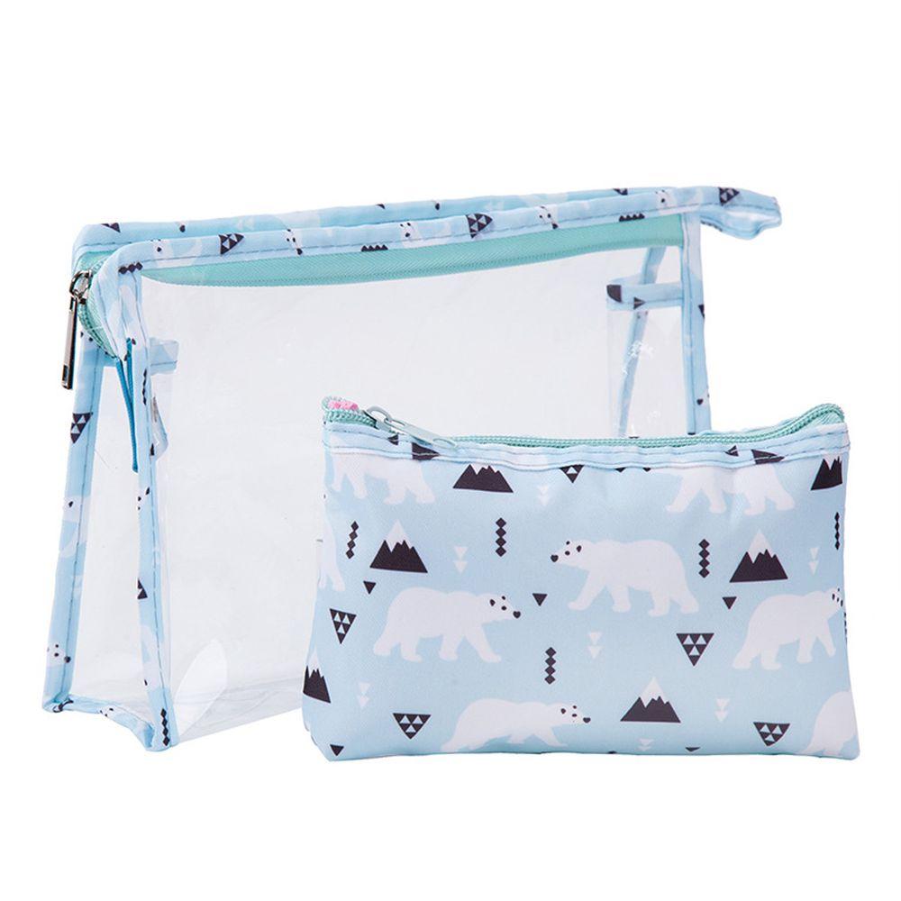 大容量透明子母化妝包-北極熊