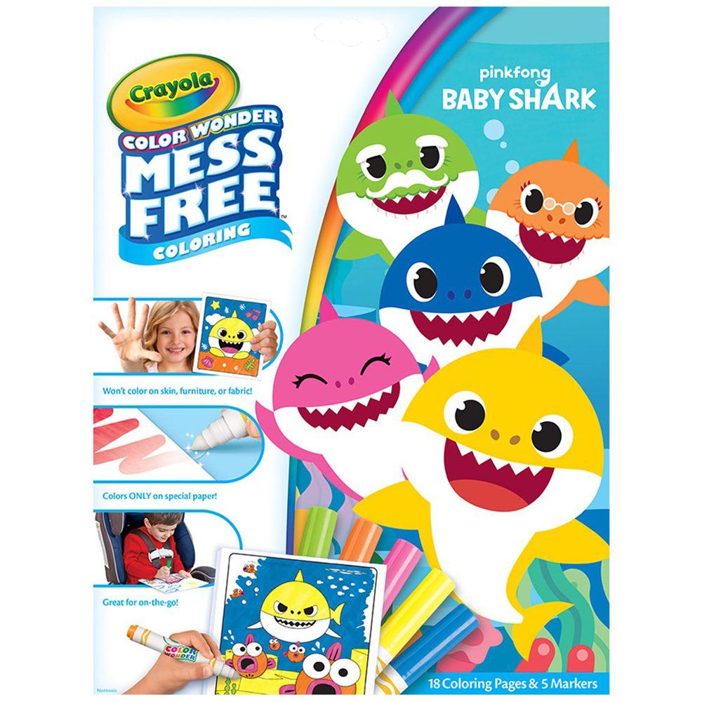 Crayola繪兒樂 - 神彩著色套裝-鯊魚寶寶(紙盒)