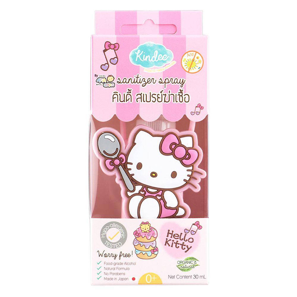 泰國 Kindee - 金蝶日本原裝食用級酒精除菌噴霧-Hello Kitty造型套-30ml