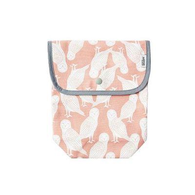 有機棉尿布收納袋-粉紅貓頭鷹 (20.5X25cm)