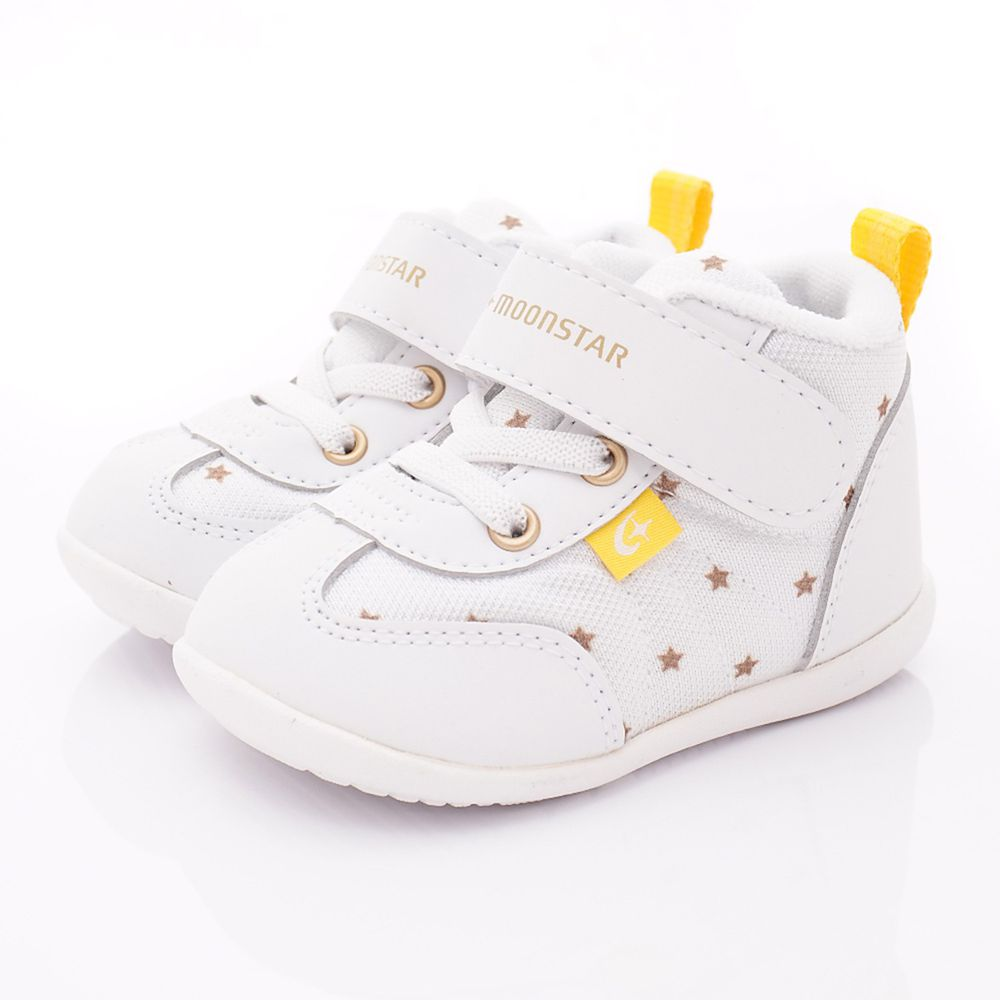 Moonstar日本月星 - 機能童鞋-護踝星星學步鞋(寶寶段)-白