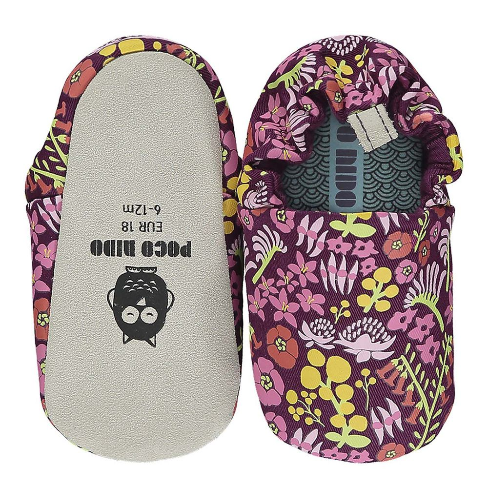 英國 POCO NIDO - 寶寶手工鞋/學步鞋-澳洲花花金合歡