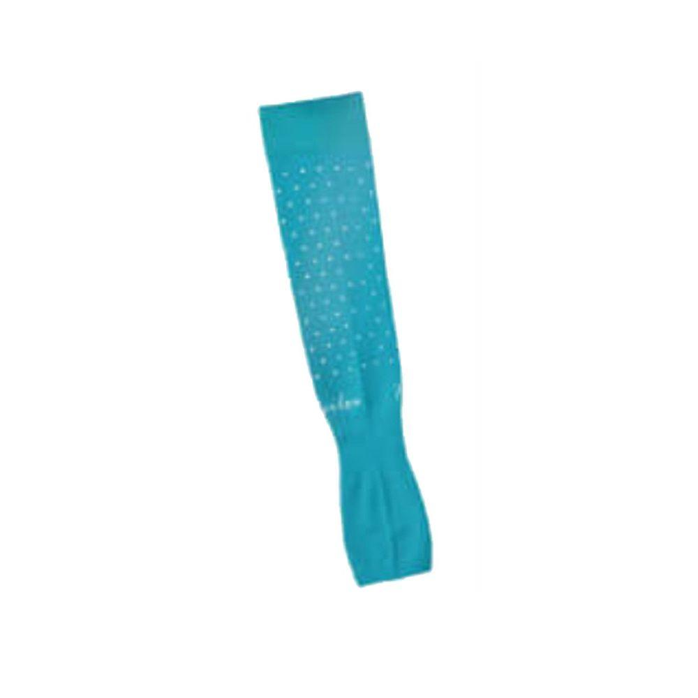 貝柔 Peilou - 高效涼感防蚊抗UV袖套-點點款-土耳其藍