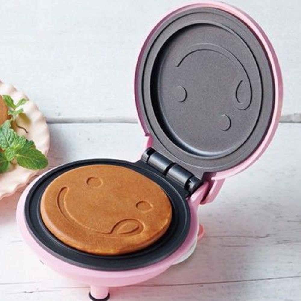 麗克特 recolte - Mini 迷你鬆餅機-微笑-櫻花粉