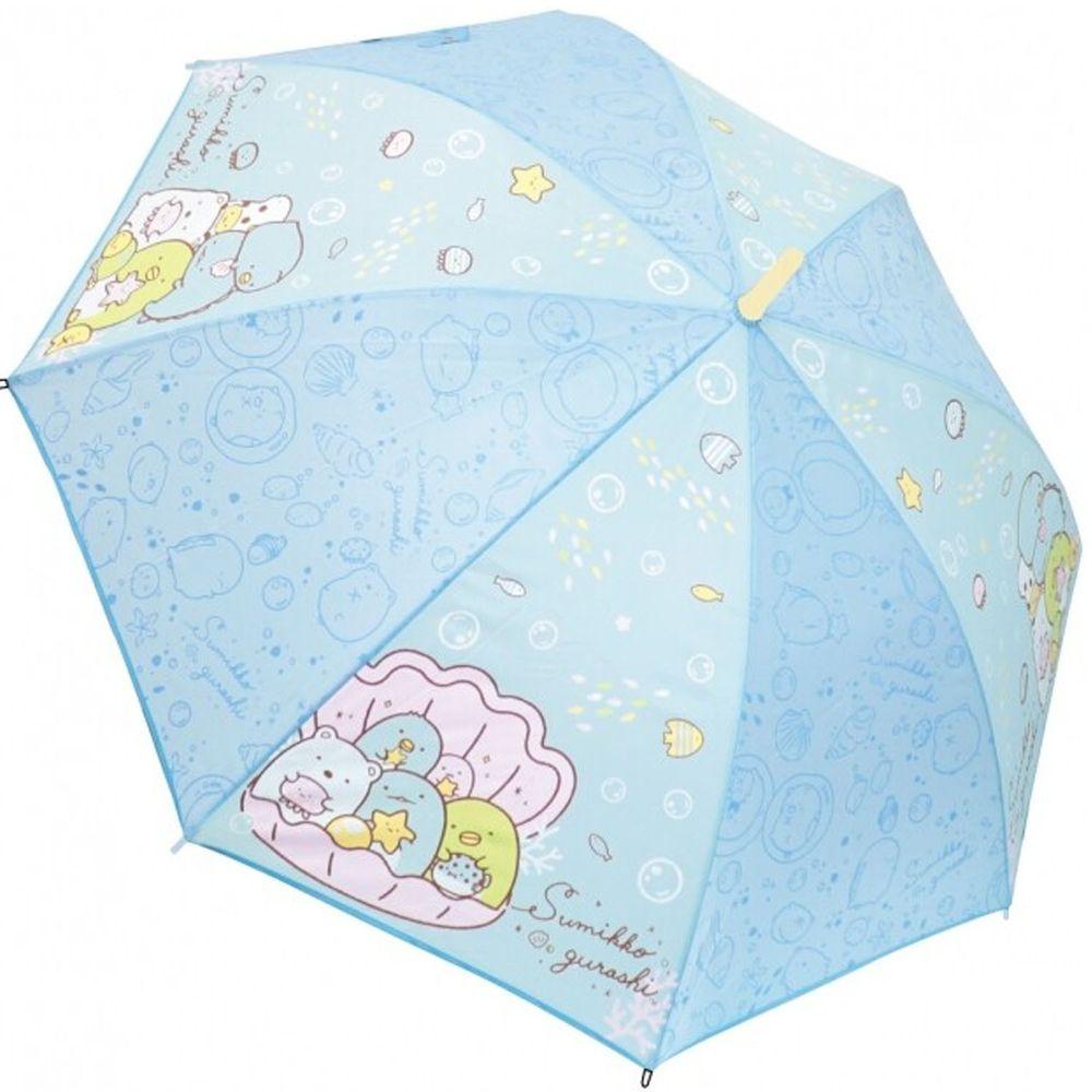 日本代購 - 卡通直傘-角落生物-水藍貝殼 (55cm(130cm以上))