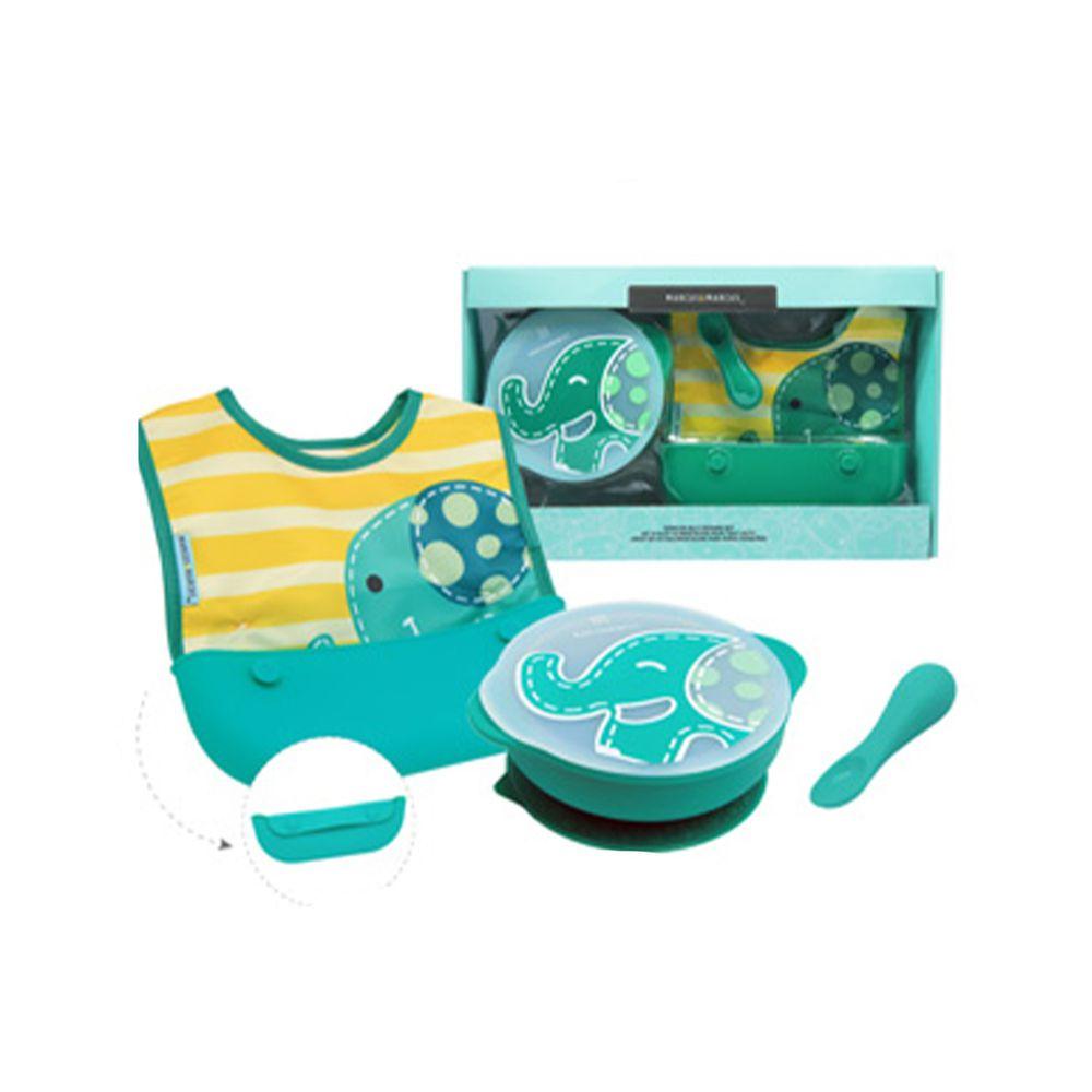 MARCUS&MARCUS - 動物樂園自主用餐學習禮盒組-綠大象