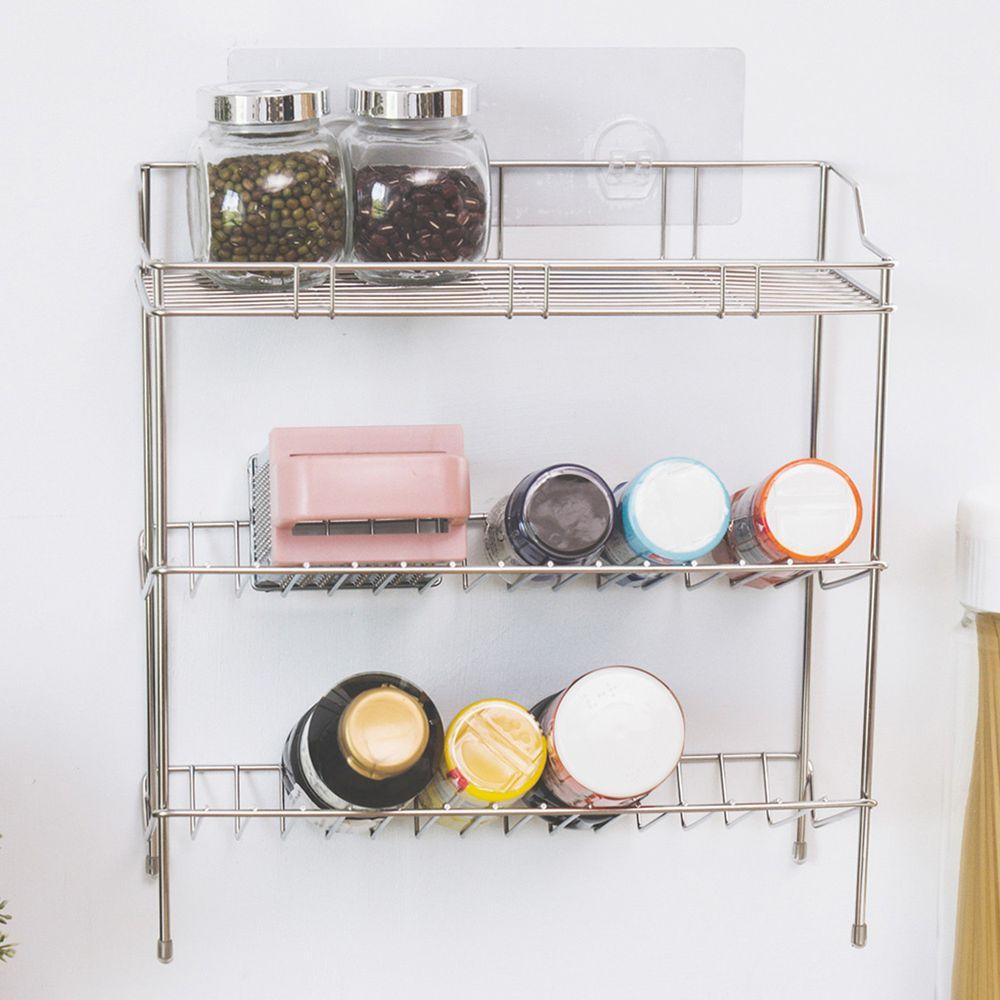 完美主義 Peachy Life - 台灣製304不鏽鋼長方沐浴罐架-peachylife霧面無膠痕