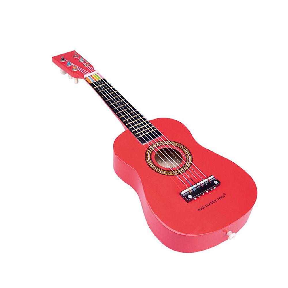 荷蘭 New Classic Toys - 【新品】幼兒音樂吉他-櫻桃紅
