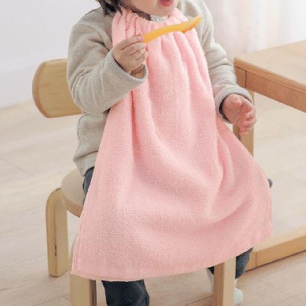 日本千趣會 - 毛巾圍兜3件組-粉 (長(34x42.5cm(雙層)))