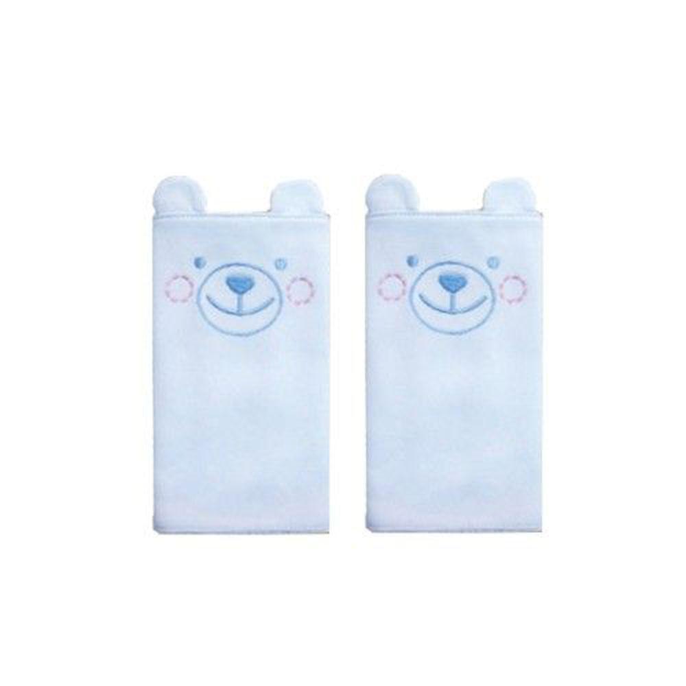 Edenswear 伊登詩 - 鋅健康抗敏系列-嬰兒抗菌造型背帶口水巾-淺藍熊 (FREE)