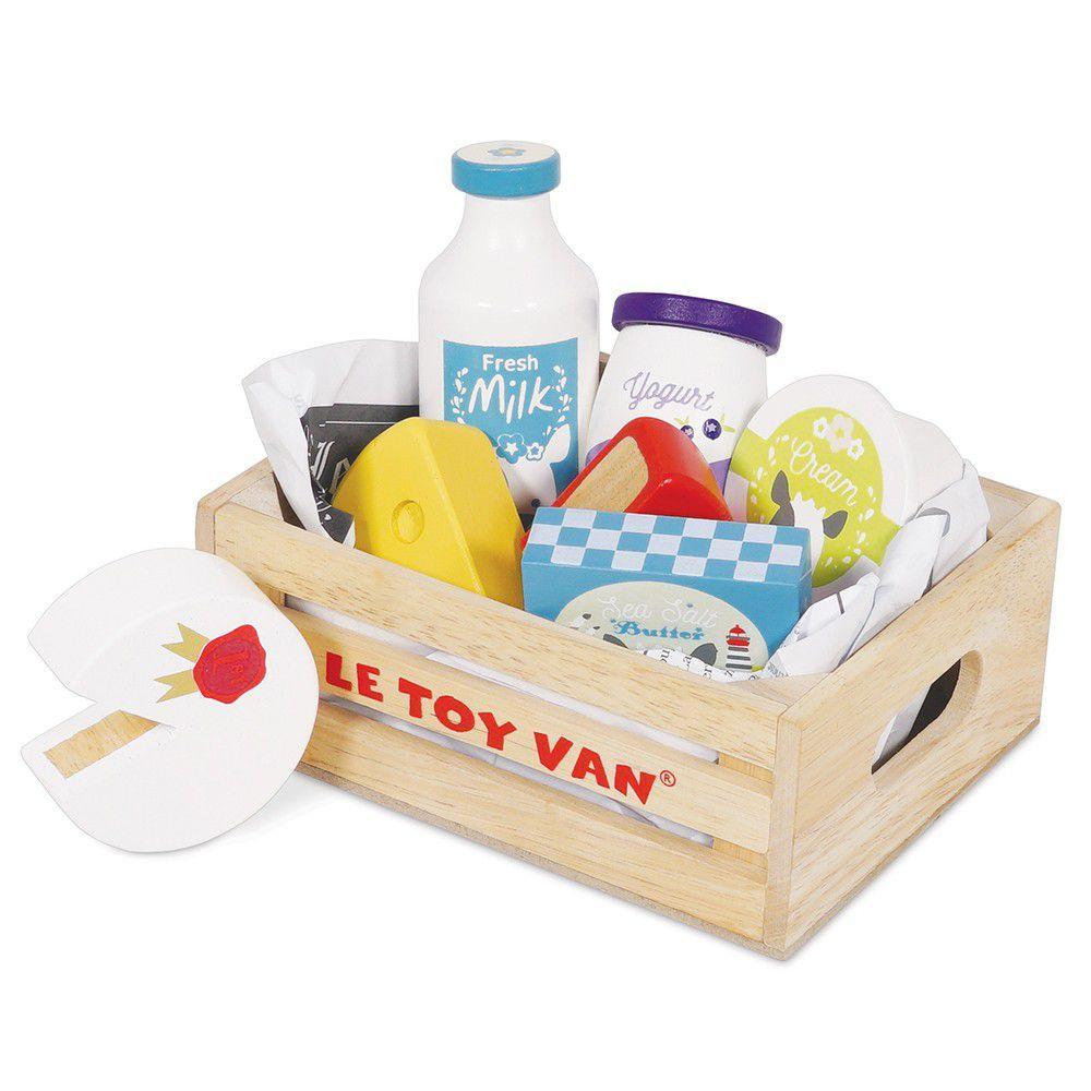 英國 Le Toy Van - 角色扮演 - 起司與乳製品盒玩具組
