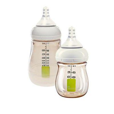 Utouch Ultra 寬口防脹氣 PPSU 奶瓶-附奶嘴-1 + 1 實用組 (1 號慢流速-圓孔 [0個月新生兒])-160mLx1+260mLx1