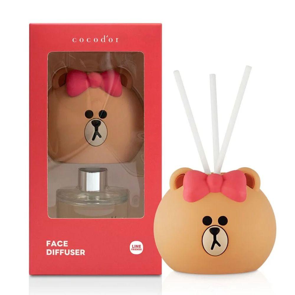 韓國 cocodor - BROWN & FRIENDS造型系列擴香瓶-熊美(莓果冰茶)-50ml