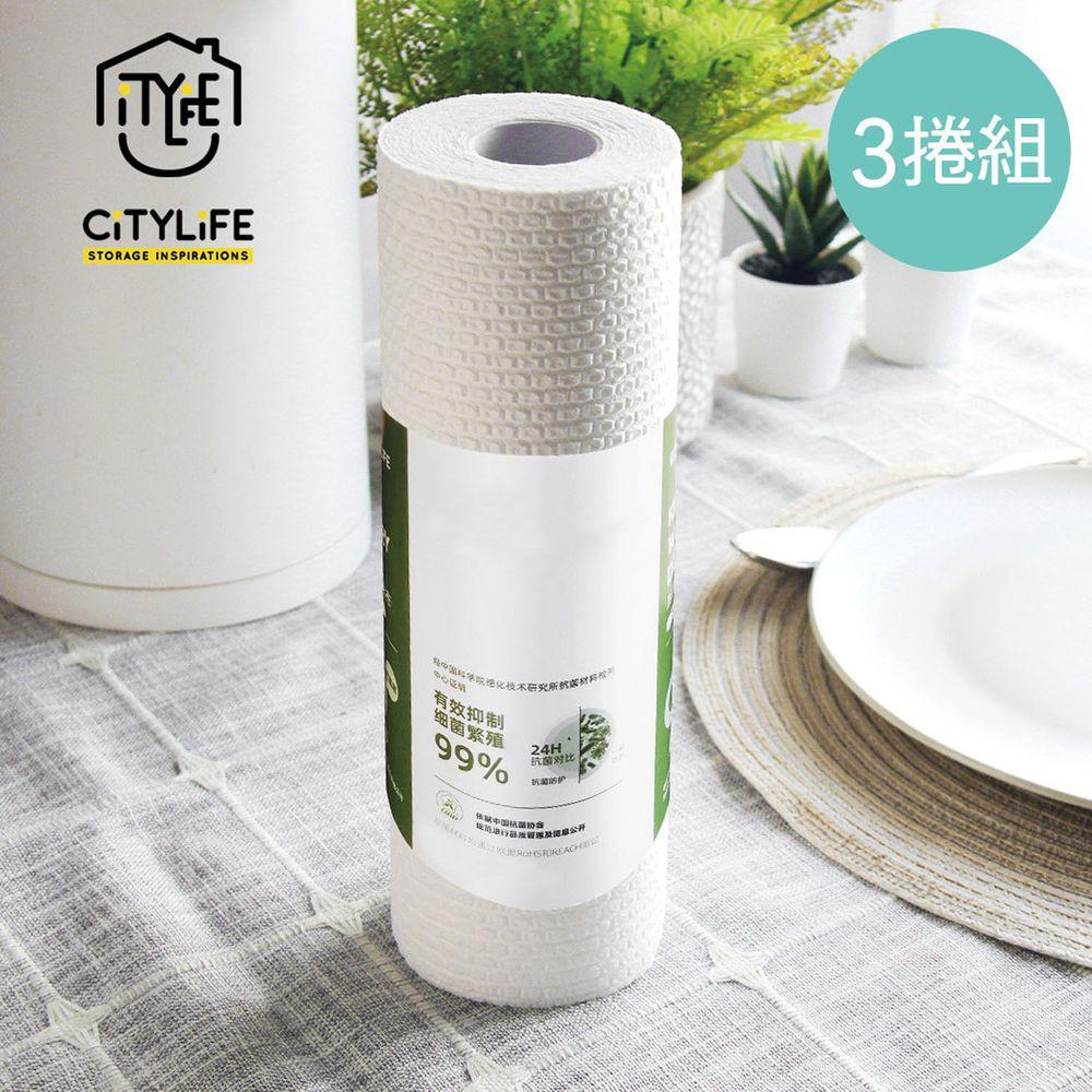 新加坡 CITYLIFE - 奈米抗菌超吸力去汙拋棄式乾濕兩用抹布-白-3捲組